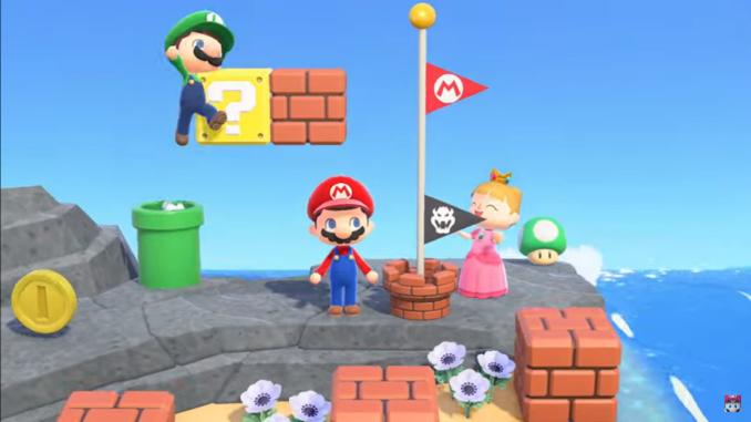"""Das Bild zeigt das Super Mario-Update in """"Animal Crossing: New Horizons"""". Das Spiel gewann einen der D.I.C.E. Awards."""