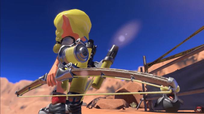 """Das Bild zeigt eine neue Waffe in """"Splatoon 3""""."""