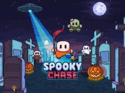 """Das Bild zeigt das Logo von """"Spooky Chase""""."""