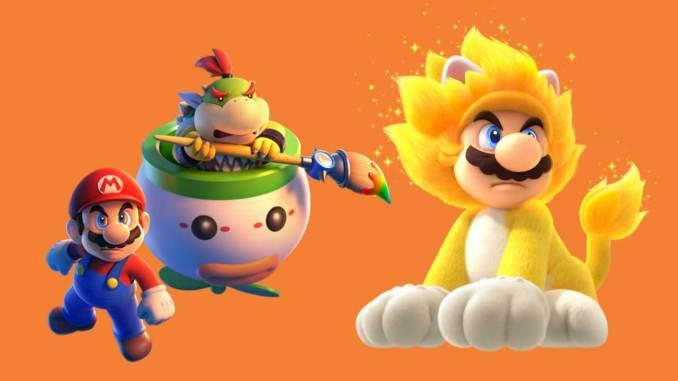 """Das Bild zeigt ein Art Work zu dem Spiel """"Super Mario 3D World + Bowser's Fury""""."""