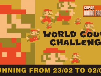 """Das Bild zeigt das Logo der """"Super Mario Bros. 35"""" – Goomba World Count Challenge."""