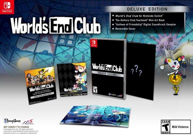 Das Bild zeigt die Deluxe Edition zu World's End Club