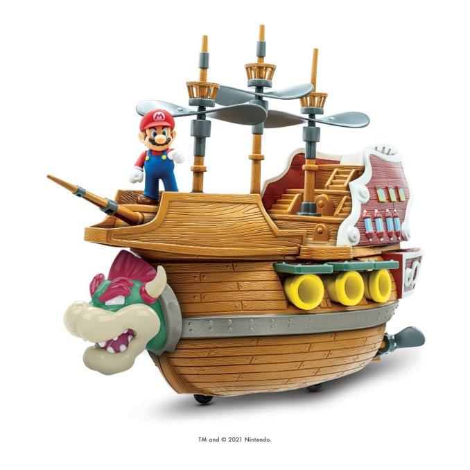 Das Bild zeigt Bowser's Flugschiff von Jakks Pacific.