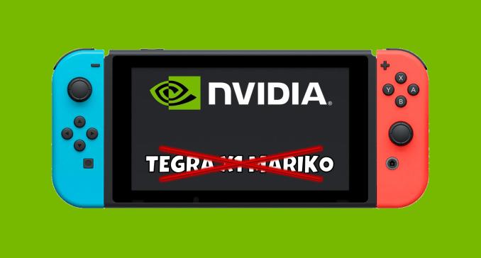 Das Bild zeigt die Nintendo Switch mit durchgestrichenem Tegra X1 Mariko-Text.