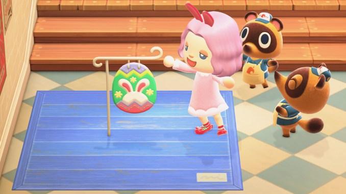 """Das Bild zeigt eines der neuen Häschentag-Items aus dem neuen Update von """"Animal Crossing: New Horizons""""."""