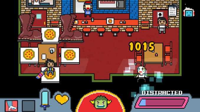 """Das Bild zeigt eine Szene aus dem Spiel """"DON'T GIVE UP: A Cynical Tale""""."""