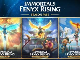 """Das Bild zeigt die verfügbaren DLC des Spieles """"Immortals Fenyx Rising""""."""