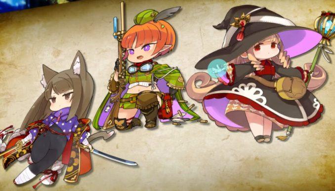Das Bild zeigt die Charaktere aus dem Spiel Monyuu.