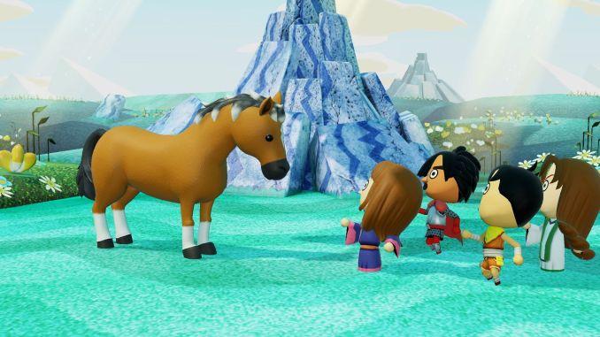 """Das Bild zeigt eine Szene aus dem Spiel """"Miitopia""""."""