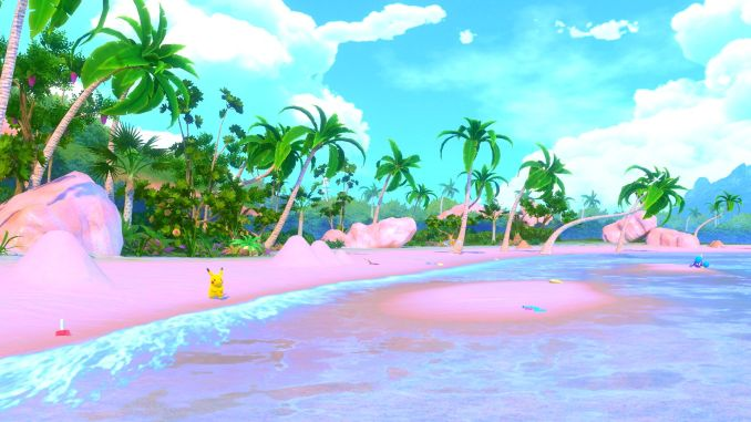 """Das Bild zeigt eine Szene aus dem Spiel """"New Pokémon Snap""""."""