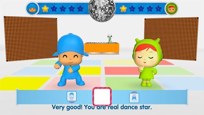 """Das Bild zeigt eine Szene aus dem Spiel """"Pocoyo Party""""."""