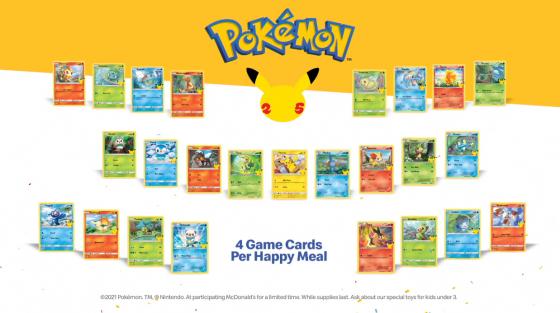 Das Bild zeigt die Pokémon-Sammelkarten bei McDonald's.