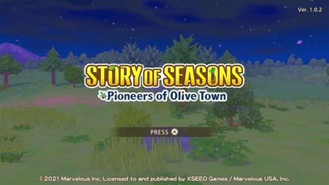 """Das Bild zeigt eine Szene aus dem Spiel """" Story of Seasons: Pioneers of Olive Town""""."""