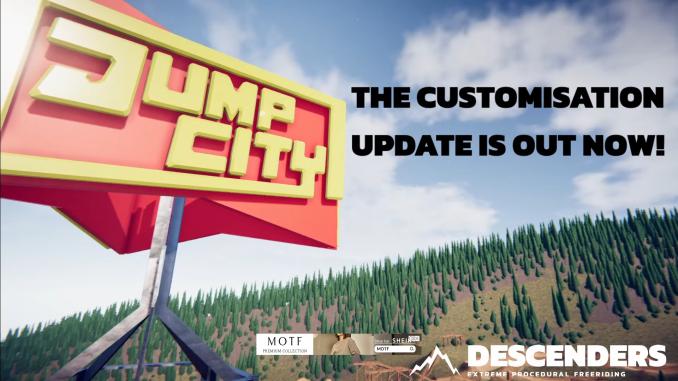 """Das Bild zeigt das Logo des neusten Updates von """"Descenders""""."""