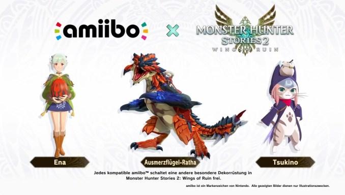 """Das Bild zeigt die amiibo von """"Monster Hunter Stories 2""""."""