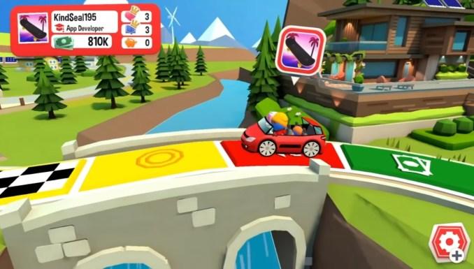 """Das Bild zeigt das Spielbrett in """"Das Spiel des Lebens 2""""."""