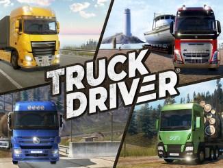 """Das Bild zeigt das Logo des Spiels """"Truck Driver""""."""