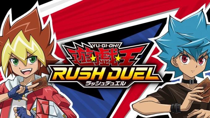 """Das Bild zeigt das Logo von """"Yu-Gi-Oh! Rush Duel"""" auf japanisch."""