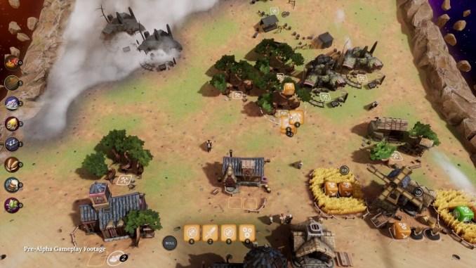 """Das Bild zeigt die eigene Siedlung aus dem Spiel """"Dice Legacy"""""""