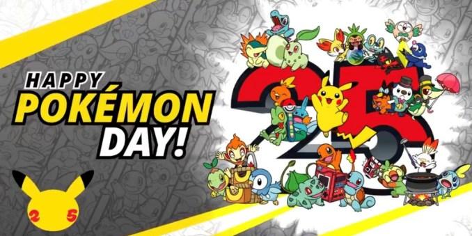 """Das Bild zeigt viele """"Pokémon"""" zum 25. Pokémon-Jubiläum"""