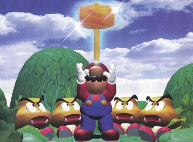 """Das Bild zeigt Super Mario mit dem magischen Hammer in """"Super Mario RPG""""."""