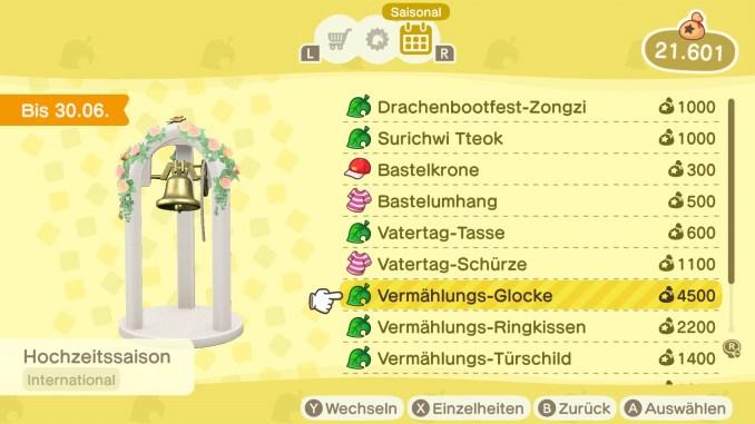 """Das Bild zeigt neue saisonale Items vom neuen Update in """"Animal Crossing: New Horizons""""."""
