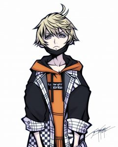 """Das Bild zeigt den Charakter Rindo aus dem Spiel """"NEO: The World Ends with You""""."""