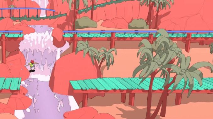 Das Bild zeigt, dass ihr in OlliOlliWorld mehrere Wege im Level erkunden könnt