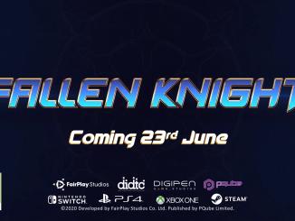 """Das Bild zeigt das Logo von """"Fallen Knight""""."""