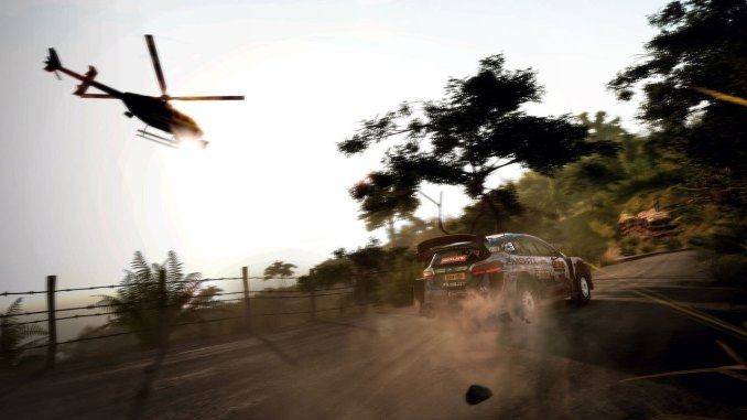 """Das Bild zeigt eine Drift-Situation in """"WRC 9""""."""