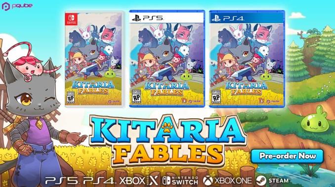 """Das Bild zeigt die physischen Versionen von """"Kitaria Fables""""."""