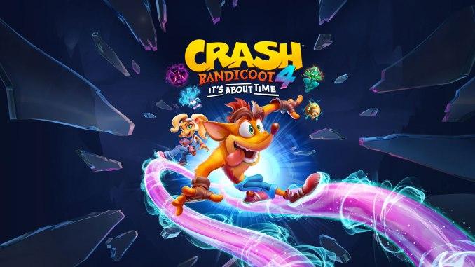 """Das Bild zeigt das Logo von """"Crash Bandicoot™ 4: It's About Time Crash Bandicoot™ 4: It's About Time""""."""