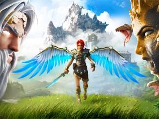 """Das Bild zeigt ein Artwork zum Spiel """"Immortals Fenyx Rising""""."""