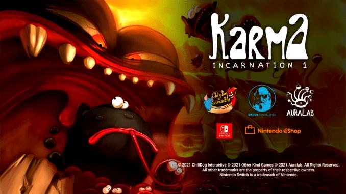 """Das Bild zeigt das Logo von """"Karma. Incarnation 1""""."""