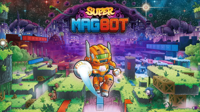 """Das Bild zeigt das Logo von """"Super Magbot""""."""