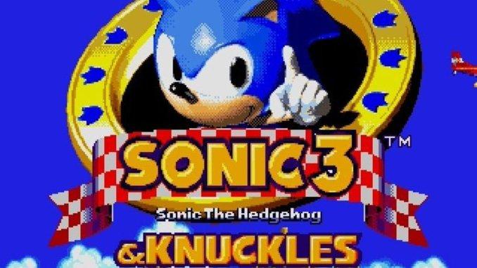 Das Bild zeigt das Titelbild des Spiels Sonic the Hedgehog 3.