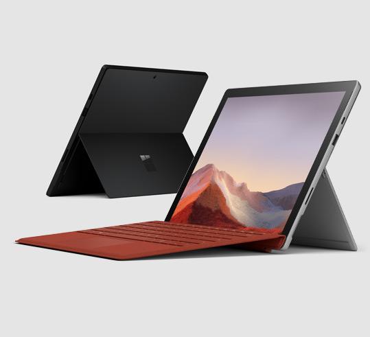 Das Bild zeigt das Microsoft Surface. Die Switch Pro soll einen ähnlichen Kickstand besitzen.