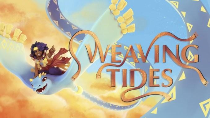 """Das Bild zeigt das Logo des Spieles """"Weaving Tides""""."""
