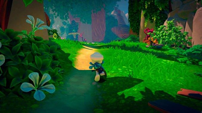 """Das Bild zeigt eine Szene aus dem Spiel """"The Smurfs: Mission Vileaf""""."""