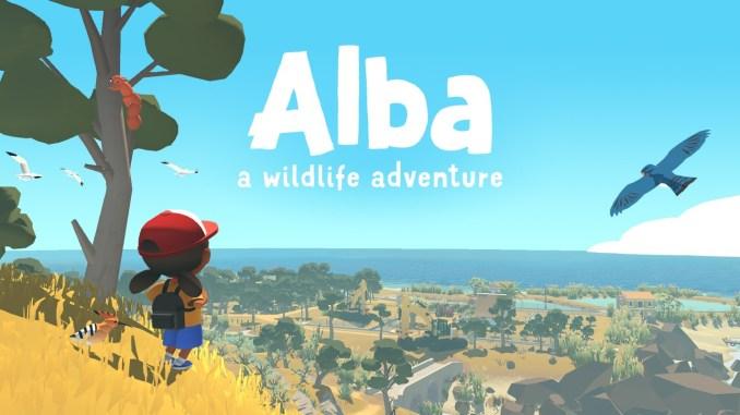 """Das Bild zeigt das Logo von """"Alba: A Wildlife Adventure""""."""