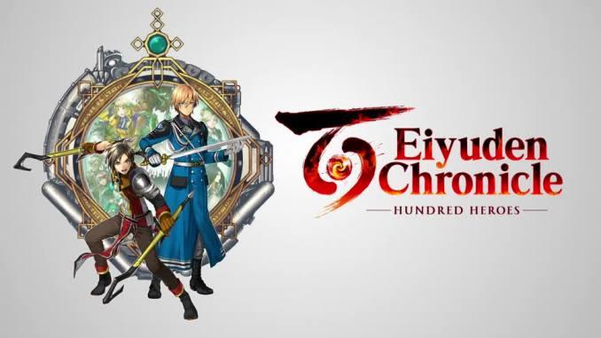 """Das Bild zeigt das Logo des Spiels """" Eiyuden Chronicle: Hundred Heroes""""."""