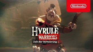 """Das Bild zeigt das Logo des Spieles """"Hyrule Warriors: Zeit der Verheerung""""."""