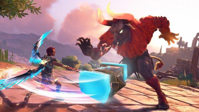"""Das Bild zeigt eine Szene aus dem Spiel """"Immortals Fenyx Rising""""."""