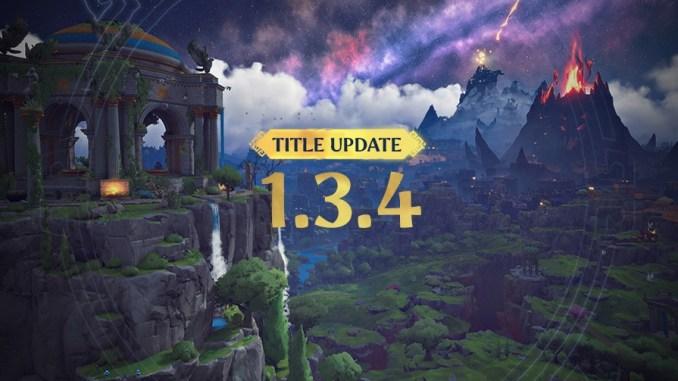 """Das Bild zeigt das Logo zur Version 1.3.4 des Spieles """"Immortals Fenyx Rising""""."""