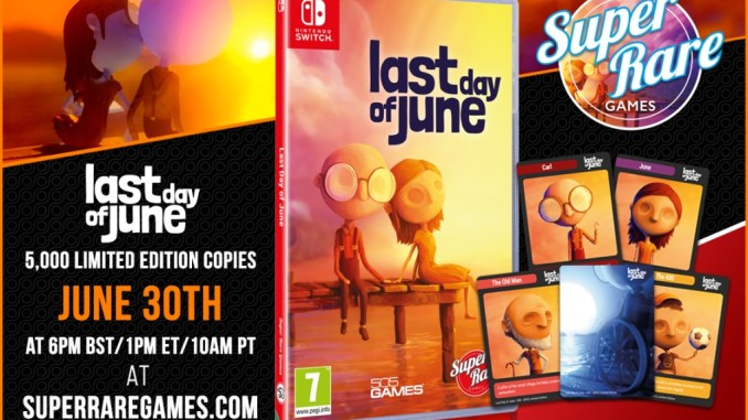 """Das BIld zeigt die physische Version von """"Last Day of June""""."""