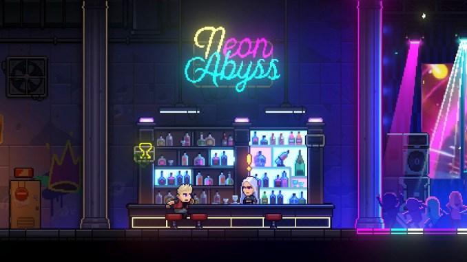 """Das Bild zeigt das Logo von """"Neon Abyss""""."""