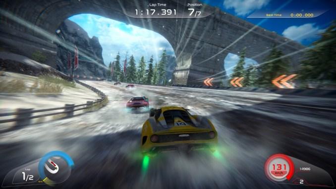 """Das Bild zeigt eine Szene aus dem Spiel """"RISE: Race The Future""""."""