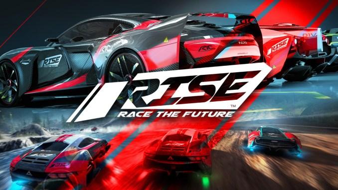 """Das Bild zeigt das Logo von """"Rise: Race The Future""""."""