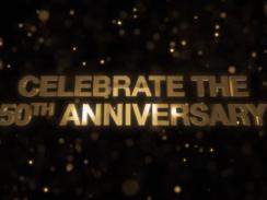 """Das Bild zeigt das Logo des """"UNO 50th Anniversary DLC""""."""