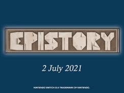 """Das Bild zeigt das Logo des Spiels """"Epistory – Typing Chronicles""""."""